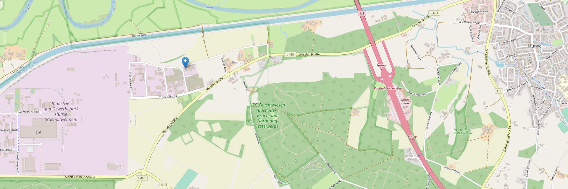 Kartenausschnitt des Standortes der EPV Maschinentechnik GmbH